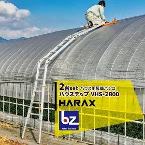 ハラックス|HARAX <2台セット品>ハウス用昇降ハシゴ 農業用パイプハウス用 ハウステップ VHS-2800 分割可能 ハウス ハシゴ|法人様限定