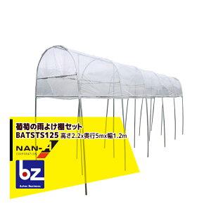 <次回入荷6月中旬予定>ナンエイ|南栄工業 家庭菜園用ぶどう栽培ハウス 葡萄の雨よけ棚セット 幅1.2m奥行5m高さ2.2m BATSTS125|法人様限定