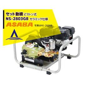 麻場 asaba セット動噴 ピストン式 NS-2803GB セラミック