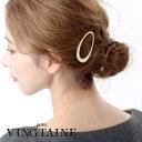 オーバル型ヘアピン マットゴールド カジュアル 髪留め 女性 シンプル 大ぶり レディース ヘアアクセサリー …
