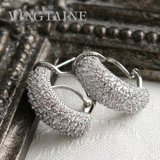 CZ ダイヤモンドパヴェピアス / (M) 耳环 / 戒指、 耳环,立方氧化锆 / 卷 P2 37fs3gm