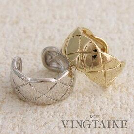 キルティング風リング ボリューム ゴールド シルバー エレガント ワンポイント 大人カジュアル ファッションリング デイリー 重ねづけ 指輪 R-131 レディース 大人っぽい シンプル かわいい プレゼント