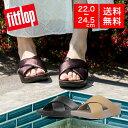 【国内正規品】fitflop フィットフロップ サンダル シューズ 靴 LULU CROSS SLIDE SANDALS - LEATHER スライドサンダ…
