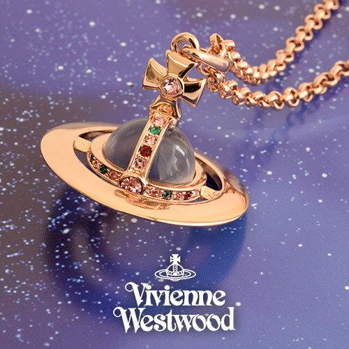 ヴィヴィアンウエストウッド VIVIENNE WESTWOOD ネックレス レディース スモールオーブ PG 752106B-3 プレゼント ギフト 送料無料