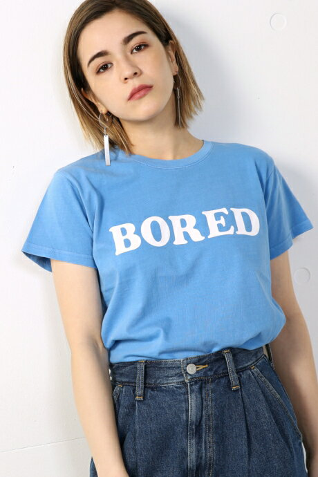 【AZUL BY MOUSSY】20/-綿天竺BORED T AZUL BY MOUSSY/アズール バイ マウジー/レディース/トップス カットソー/プルオーバー【MARKDOWN】