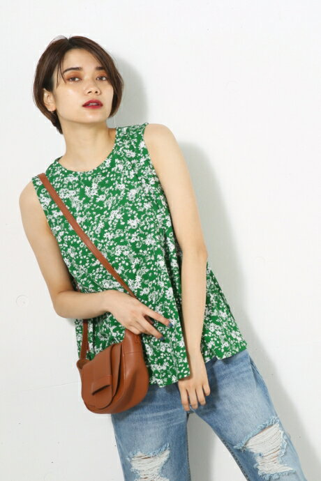 【AZUL BY MOUSSY】花柄フレアタンク AZUL BY MOUSSY/アズール バイ マウジー/レディース/トップス タンクトップ【MARKDOWN】