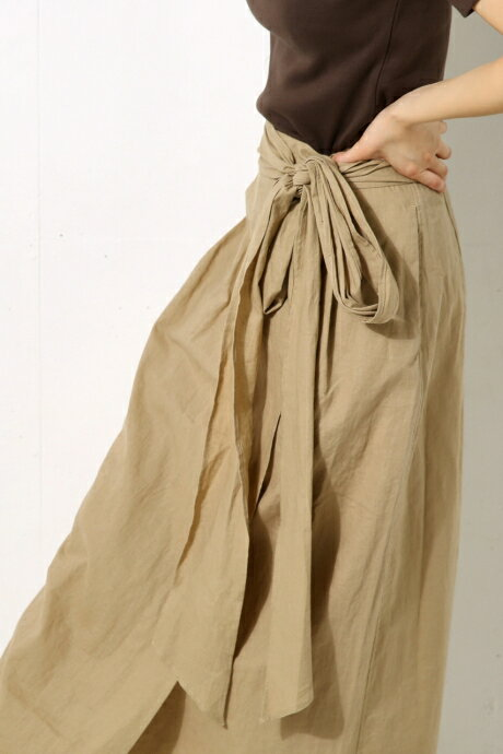 《WEB限定サマーセール》【AZUL BY MOUSSY】FRONTリボンロングスカート AZUL BY MOUSSY/アズール バイ マウジー/レディース/ボトムス スカート【MARKDOWN】