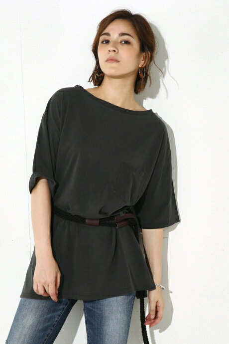 【AZUL BY MOUSSY】ピグメント BIG TEE AZUL BY MOUSSY/アズール バイ マウジー/レディース/トップス カットソー/プルオーバー【MARKDOWN】