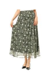 楊柳シフォンプリントギャザースカート AZUL BY MOUSSY/アズール バイ マウジー/レディース/ボトムス スカート【MARKDOWN】