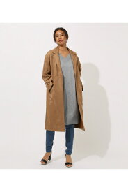 FAKE SUEDE CHESTER COAT AZUL BY MOUSSY/アズール バイ マウジー/レディース/アウター コート【MARKDOWN】