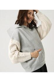 《期間限定価格》Knit sleeve HOODIE AZUL BY MOUSSY/アズール バイ マウジー/レディース/トップス パーカー【MARKDOWN】