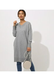 VNECK KNIT ONEPIECE AZUL BY MOUSSY/アズール バイ マウジー/レディース/トップス ニット【MARKDOWN】