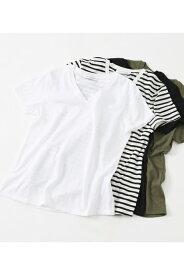 ベーシックショートスリーブVネックTシャツ AZUL BY MOUSSY/アズール バイ マウジー/レディース/トップス カットソー【MARKDOWN】