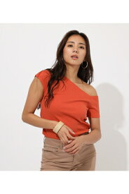 Asymmetry sleeve cut tops AZUL BY MOUSSY/アズール バイ マウジー/レディース/トップス カットソー【MARKDOWN】