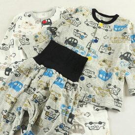 【メール便OK】ソフトキルト腹巻付パジャマ 暖かパジャマ 中綿 綿100% 80 90 95 練習釦 腹巻パンツ ベビー キッズ 男の子