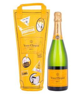 ヴーヴクリコ ブリュット 750ml クーラーバッグ入り / 泡 フランスワイン シャンパン シャンパーニュ スパークリング イエロー プレゼント ギフト 贈答 クリスマス パーティ