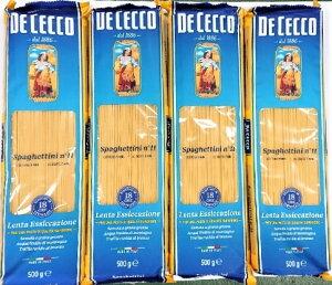 【送料無料(北海道・沖縄は別途送料)!】ディチェコ パスタ スパゲッティーニ °11 500g 4袋セット イタリア デュラム小麦 セモリナ ディ・チェコ No.11