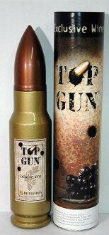 참신한 탄환형 보틀에 들어간 차밍한 레드 와인 TOP GUN 톱・암[1998] 750 ml