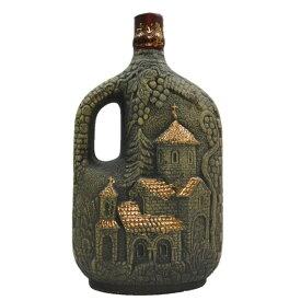 他にないレアボトルグルジアワイン クヴァレリ チャーチ 陶器ボトル 750mlジョージアワイン/赤ワイン 父の日