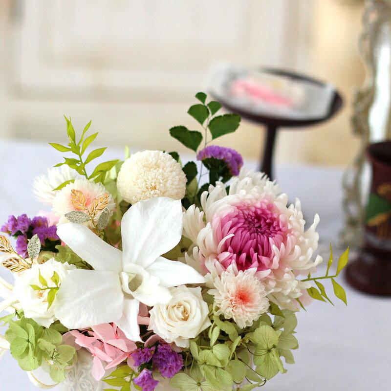 プリザーブドフラワー 和風 プリザーブドフラワー 仏花 お供え花 プリザーブドフラワー お悔み 送料無料