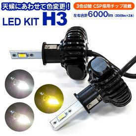 LED フォグ ランプ ライト H3 日産 インフィニティQ45(マイナー後) H5.6〜H9.7 G50 3色切替 3000k 4300k 6000k 2個セット【送料無料】