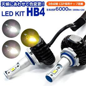 LED フォグ ランプ ライト HB4 LEXUS IS(マイナー1回目) H20.9〜H22.7 GSE2#系 3色切替 3000k 4300k 6000k 2個セット【送料無料】