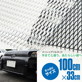 アルミメッシュ メッシュネット グリルネット カラーブラック/シルバー 100×33【送料無料】