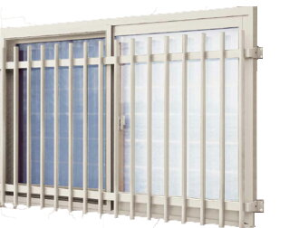 Plane grating fresh face lattice LA enhance crime prevention (wall mount type