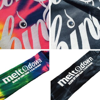 MELTDOWN(メルトダウン)スウェットパーカーSCRIPTTIEDYEHOODSWEAT(MD17FW-SWH01)メンズファッションヒップホップダンスB系ストリート系通販スクリプトロゴタイダイ