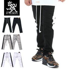 STYLEKEY スタイルキー スキニーパンツ GENERATION LINE SKINNY PANTS(SK19FW-PT01) メンズファッション ヒップホップ ダンサー B系 ストリート系 ボトムス スリムシルエット ストレッチ サイドライン ラインパンツ 大きいサイズ 日本製 38 40
