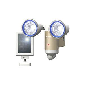 3W×2灯 LEDソーラーライト S-65L(屋外 防水 ソーラー LED  階段 人感センサーライト 玄関 照明 自動点灯 自動消灯 防犯 廊下 屋外 可動 玄関ライト 昼白色 常夜灯)