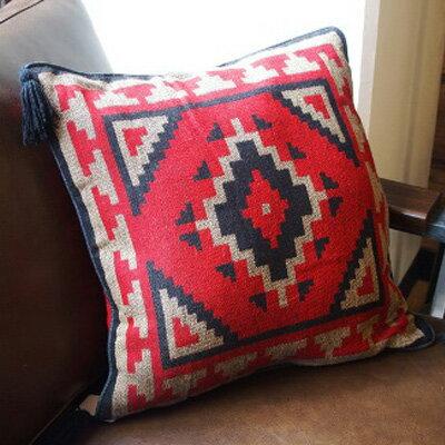 TASSELED Cushion Cover (tassel Cushion Cover) EL PASO SADDLEBLANKET Co.(El  Paso Saddle Blanket) Deep Red (deep Red)