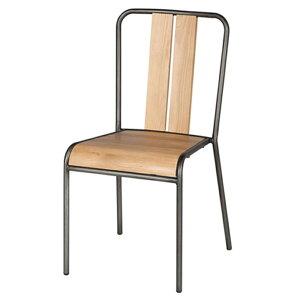 ダイニングチェア 椅子 食卓椅子 マンハッタンチェア MANHATTAN CHAIR アスプルンド ASPLUND オーク リサイクルパイン ナチュラル ブラウン ウッド アイアン 木製 スタッキング インダストリアル