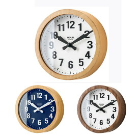 フィガレト 掛け時計 置時計兼用 Figareto Wall Clock Table Clockインターフォルム INTERFORM CL-2550 木 ガラス ナチュラル ネイビー ブラウン コンパクト 16×5cm スイープムーブメント 北欧 モダン カジュアル レトロ アンティーク 木のぬくもり