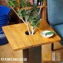 プランターテーブル サイドテーブル PLT Plants Table プランツテーブル スクエア60x60cm カラー(チーク・マンゴー)…