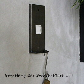 iron hang bar switch plate 1口 アイアン ハングバー スイッチプレート 1口 ISP-HGB-001 a.depeche アデペシュ スイッチカバー オシャレインテリア おしゃれ リラックス くつろぎ ファミリー家具