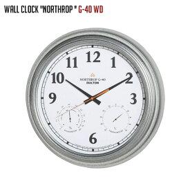 ダルトン DULTON ウォールクロック ノースロップ G-40 WALL CLOCK NORTHROP G-40 WD K725-926WD 壁掛け時計 幅405mm ウォールクロック 時計 かけ時計 電池時計 スチール ガラス インダストリアル リビング メンズライク アメリカ ヴィンテージ おしゃれ かっこいい