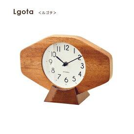 インターフォルム INTERFORM 置き時計 ルゴタ Lgota CL-385 置時計 置き型時計 ウォールクロック 時計 かけ時計 掛け置き兼用 木製 木目 スイープムーブメント 北欧 ウッド ギフト ビンテージ ナチュラル