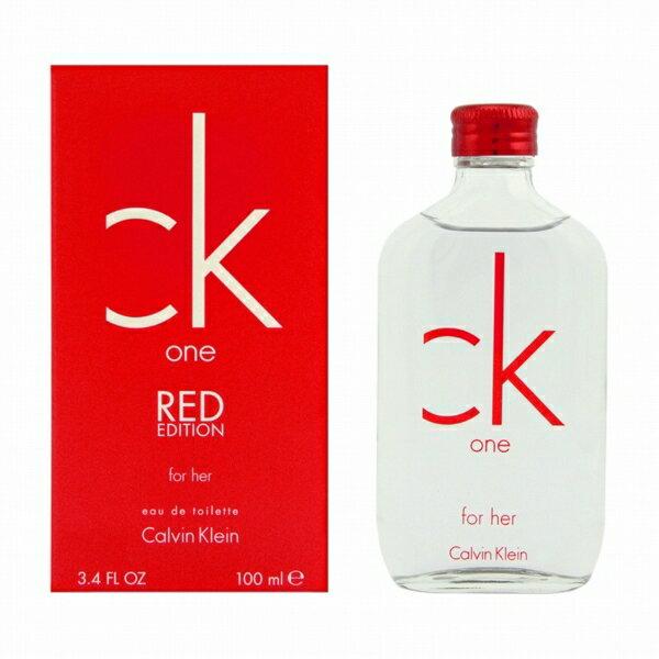 カルバン クライン CALVIN KLEIN CK シーケーワン レッド フォーハー 100ml EDT SP 【あす楽対応】 香水 レディース