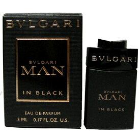 ブルガリ マン イン ブラック ミニボトル EDP オードパルファム 5ml ブルガリ BVLGARI【送料無料】香水 メンズ