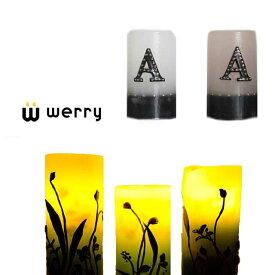 キャンドル【送料無料!】WERRY【werry】スタッズイニシャルキャンドル【雑貨】