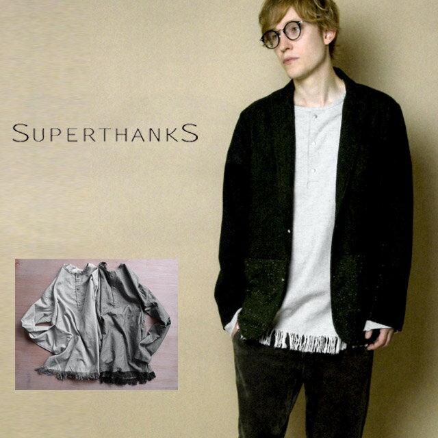【SALE50%OFF】【2016 A/W】【送料無料!】SUPERTHANKS【スーパーサンクス】FRINGE PULLOVER(Pouch SET)フリンジプルオーバー【メンズ】サイズS・M