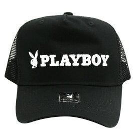 PLAYBOY/プレイボーイ メッシュキャップ/帽子 Black x Black