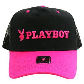 PLAYBOY/プレイボーイ メッシュキャップ/帽子 Black x Pink