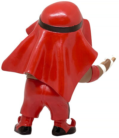 16dソフビコレクション007アブドーラ・ザ・ブッチャー赤コスチューム