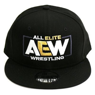AEWLogoスナップバックキャップ帽子