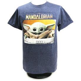 Star Wars:The Mandalorian(スター・ウォーズ:マンダロリアン) ザ・チャイルド SMALL BOX ネイビーTシャツ