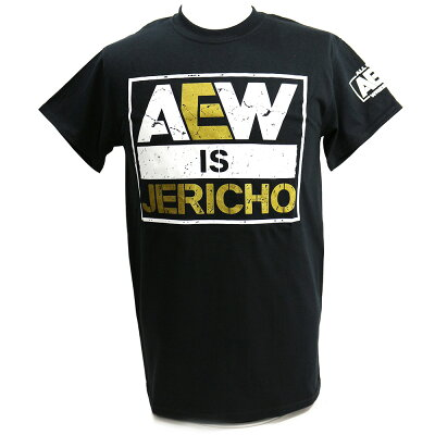 AEWChrisJericho(クリス・ジェリコ)AEWisJERICHOブラックTシャツ