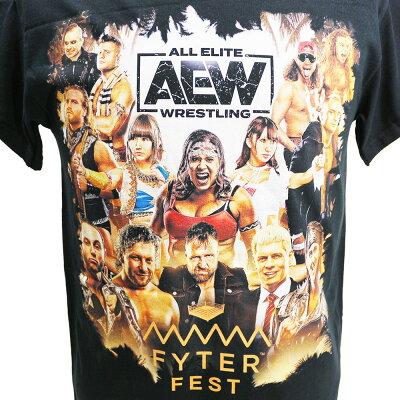 AEWFyterFestFullTalentブラックTシャツ
