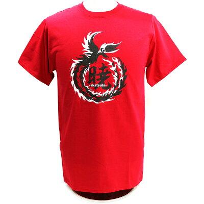【US版】DRAGONGATE暁-AKATSUKI-/鷹木信悟LogoレッドTシャツ